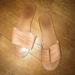 ALDO Genuine Leather Slide Sandals